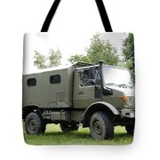 Unimog Truck Of The Belgian Army Tote Bag