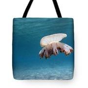 Upside Down Jellyfish In Caribbean Sea Tote Bag