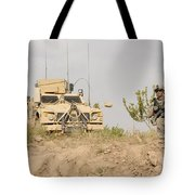 U.s. Army Sergeant Provides Security Tote Bag
