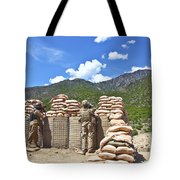 U.s. Army Soldier And An Afghan Tote Bag
