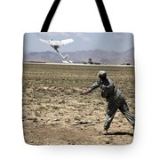 U.s. Army Soldier Launches An Rq-11 Tote Bag