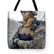 U.s. Marine Provides Security Tote Bag