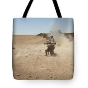 U.s. Marines Fire Several Tote Bag by Stocktrek Images