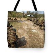 U.s. Marines Provide Security Tote Bag