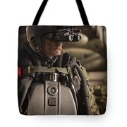 U.s. Navy Seal Equipped With Night Tote Bag