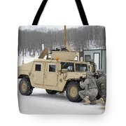 U.s. Soldiers Take Cover Tote Bag
