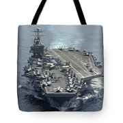 Uss Abraham Lincoln Transits The Indian Tote Bag