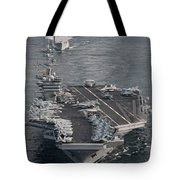 Uss Carl Vinson And Uss Bunker Hill Tote Bag