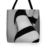 Val's Feet In Black And White Tote Bag