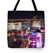 Vegas Strip At Night Tote Bag