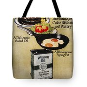 Vegetable Oil Ad, 1918 Tote Bag