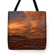 Vibrant Sunset Over The Rim Of Canyon Tote Bag