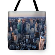 View From Empire State Building Tote Bag