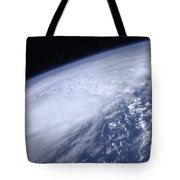 View From Space Of Hurricane Irene Tote Bag