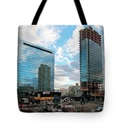 View Interrupted Tote Bag