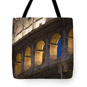 View Of The Roman Coliseum In Rome Tote Bag