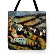 Village In Fall Tote Bag