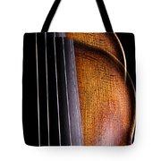 Violin Isolated On Black Tote Bag
