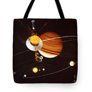 Voyager Saturn Flyby Artwork Tote Bag by Science Source