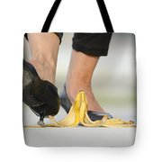 Walking On Banana Peel Tote Bag