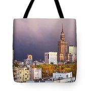 Warsaw Cityscape Tote Bag
