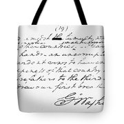 Washington: Farewell, 1796 Tote Bag