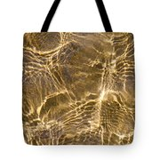 Water And Sand Ripples Tote Bag