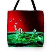Water Drop Splashing Tote Bag