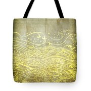 Water Pattern On Old Paper Tote Bag