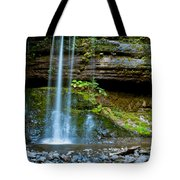 Waterfall In Deep Forest Tote Bag