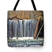 Waterfalls At Old Erie Canal Locks Tote Bag