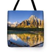 Waterfowl Lakes And Mount Chephren Tote Bag