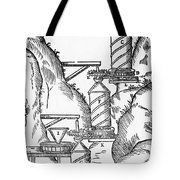 Watermill, Reversed Archimedean Screw Tote Bag by Science Source
