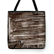 Weathered Wall In Bodie Ghost Town Tote Bag