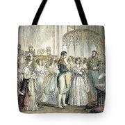 Wedding Of Queen Victoria Tote Bag