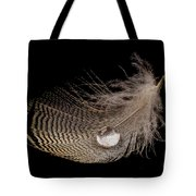 Wet Feather Tote Bag