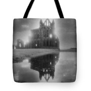 Whitby Abbey Tote Bag by Simon Marsden