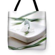 White Bath Salt Tote Bag