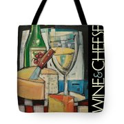 White Wine And Cheese Poster Tote Bag