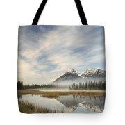 Whitegoat Lake And Mount Elliot Tote Bag
