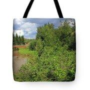 Wild Roses On Whitemud Creek Tote Bag