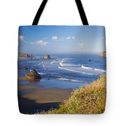 Wildflowers And Rock Formations Along Tote Bag