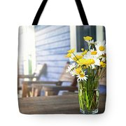 Wildflowers Bouquet At Cottage Tote Bag