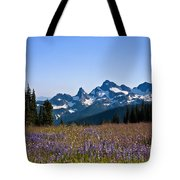 Wildflowers In The Cascades Tote Bag