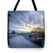 Winter At The Boat Inn Tote Bag