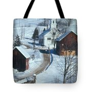 Winter Countryside Tote Bag