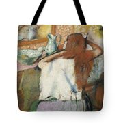 Woman At Her Toilet Tote Bag