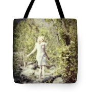 Woman In A Forest Tote Bag