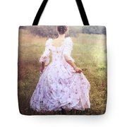 Woman In A Meadow Tote Bag