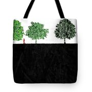 Woman In The Park  Tote Bag